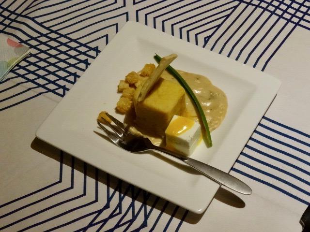 voorgerecht: in geen gebakken kaas/ei gerecht